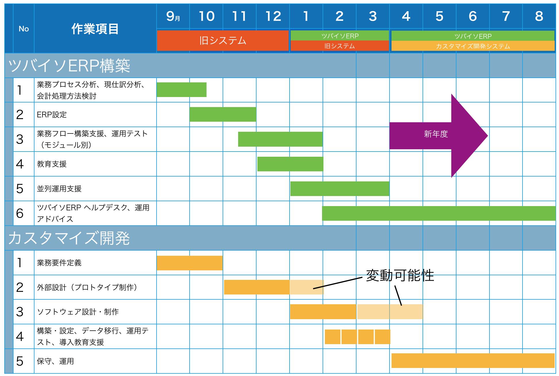 導入までの流れとスケジュール例